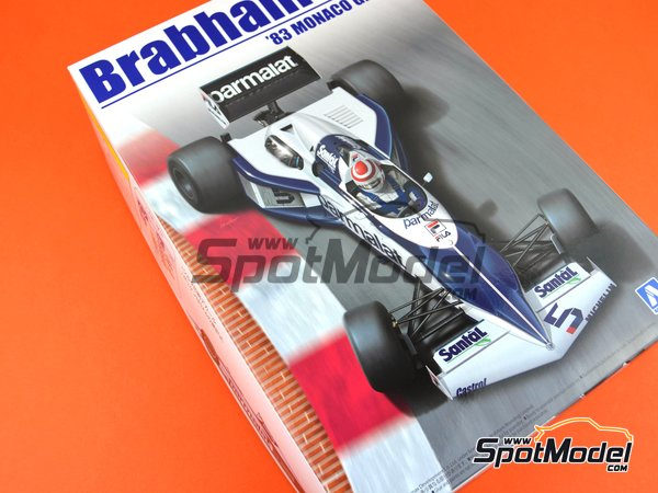 Image 17: Brabham BMW BT52 Parmalat - FIA Formula 1 World Championship 1983 | Model car kit in 1/20 scale manufactured by Beemax Model Kits (ref. B20003)