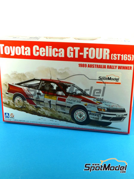 Toyota Celica GT-Four ST165 Repsol - Australian Rally 1989 | Model car kit in 1/24 scale manufactured by Beemax Model Kits (ref. B24001, also Aoshima 081198) image