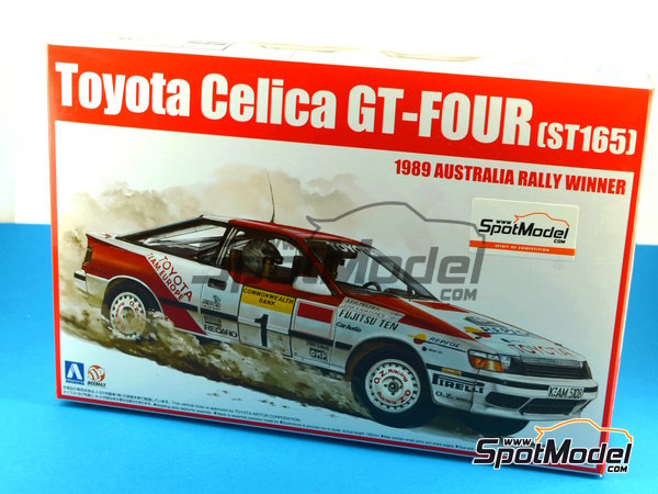 Image 1: Toyota Celica GT-Four ST165 Repsol - Australian Rally 1989 | Model car kit in 1/24 scale manufactured by Beemax Model Kits (ref. B24001, also Aoshima 081198)
