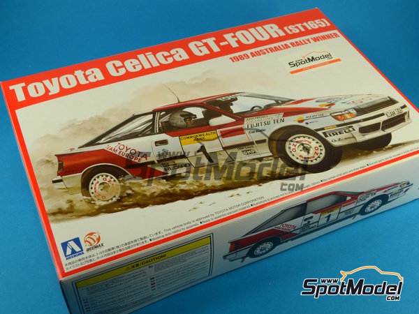Image 17: Toyota Celica GT-Four ST165 Repsol - Australian Rally 1989 | Model car kit in 1/24 scale manufactured by Beemax Model Kits (ref. B24001, also Aoshima 081198)