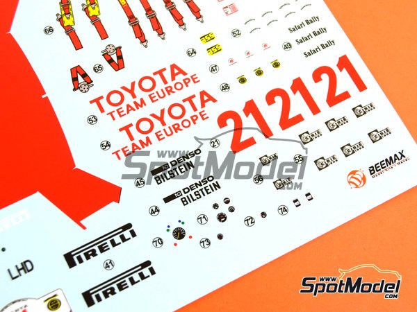 Image 23: Toyota TA64 Celica - Safari Rally 1985 | Model car kit in 1/24 scale manufactured by Beemax Model Kits (ref.B24004, also Aoshima 084564)