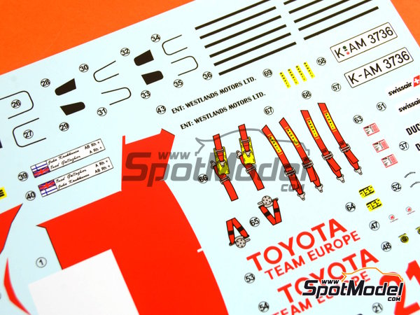 Image 24: Toyota TA64 Celica - Safari Rally 1985 | Model car kit in 1/24 scale manufactured by Beemax Model Kits (ref.B24004, also Aoshima 084564)