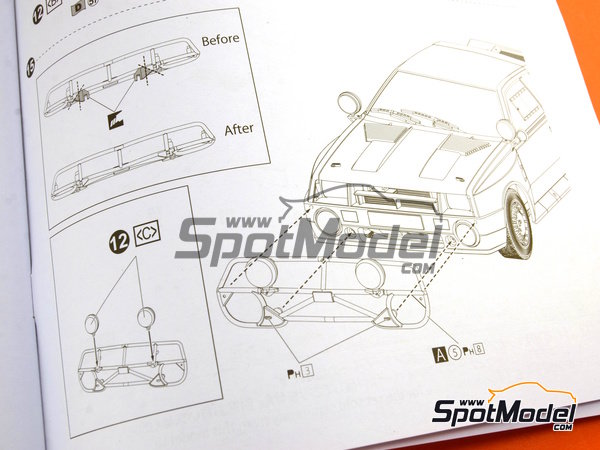 Image 32: Toyota TA64 Celica - Safari Rally 1985 | Model car kit in 1/24 scale manufactured by Beemax Model Kits (ref.B24004, also Aoshima 084564)