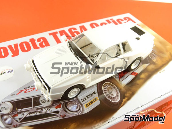 Image 34: Toyota TA64 Celica - Safari Rally 1985 | Model car kit in 1/24 scale manufactured by Beemax Model Kits (ref.B24004, also Aoshima 084564)