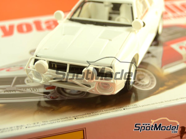 Image 36: Toyota TA64 Celica - Safari Rally 1985 | Model car kit in 1/24 scale manufactured by Beemax Model Kits (ref.B24004, also Aoshima 084564)
