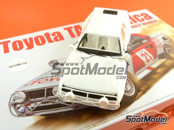 Image 37: Toyota TA64 Celica - Safari Rally 1985 | Model car kit in 1/24 scale manufactured by Beemax Model Kits (ref.B24004, also Aoshima 084564)