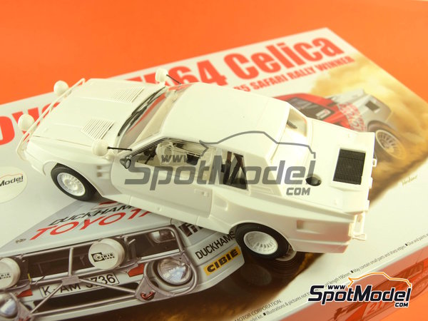 Image 41: Toyota TA64 Celica - Safari Rally 1985 | Model car kit in 1/24 scale manufactured by Beemax Model Kits (ref.B24004, also Aoshima 084564)