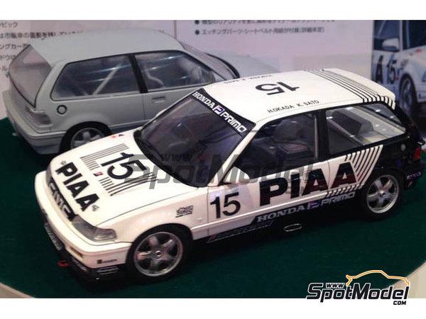 Image 2: Honda Civic EF3 Grupo A PIAA | Maqueta de coche en escala1/24 fabricado por Beemax Model Kits (ref.B24005, tambien Aoshima 084588)