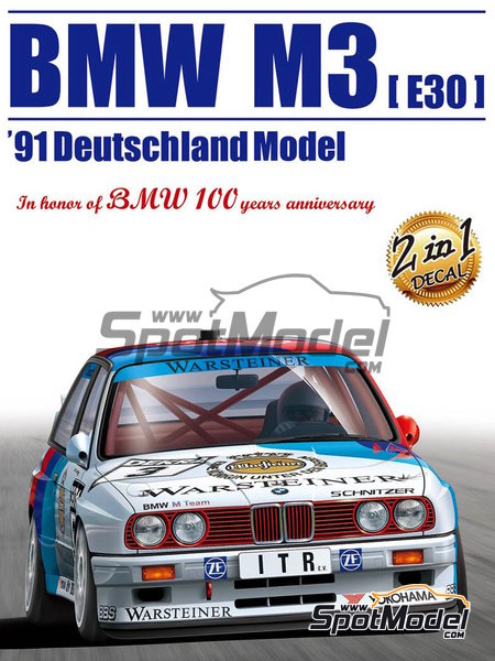 BMW M3 E30 Warsteiner - DTM 1991 | Model car kit in 1/24 scale manufactured by Beemax Model Kits (ref. B24007) image