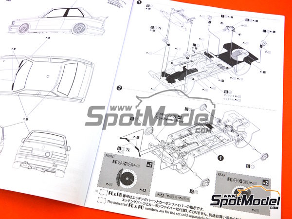 Image 11: BMW M3 E30 - DTM 1991 | Model car kit in 1/24 scale manufactured by Beemax Model Kits (ref. B24007)