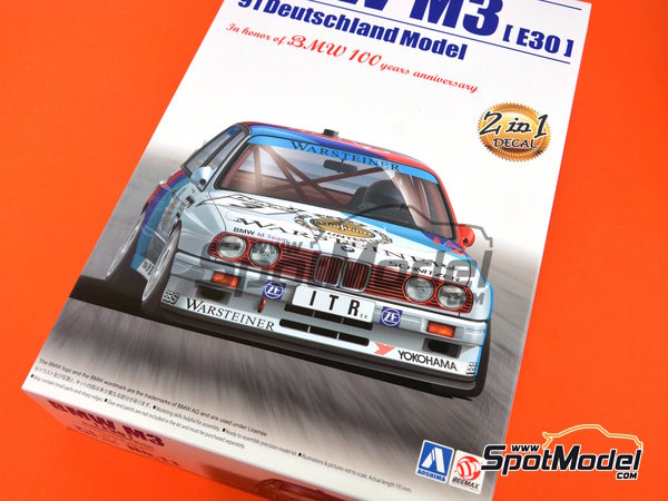 Image 14: BMW M3 E30 Warsteiner - DTM 1991 | Model car kit in 1/24 scale manufactured by Beemax Model Kits (ref. B24007)