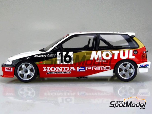 Image 1: Honda Civic EF3 Group A Motul Castrol -  1988 | Model car kit in 1/24 scale manufactured by Beemax Model Kits (ref. B24009)
