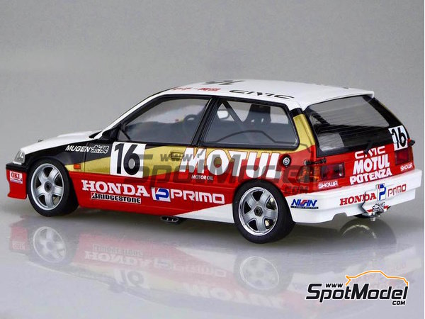 Image 3: Honda Civic EF3 Group A Motul Castrol -  1988 | Model car kit in 1/24 scale manufactured by Beemax Model Kits (ref. B24009)