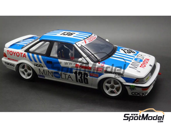 Image 2: Toyota Corolla Levin AE92 Group A Minolta -  1988 | Model car kit in 1/24 scale manufactured by Beemax Model Kits (ref. B24010, also Aoshima 098240)