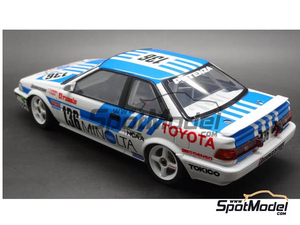 Image 4: Toyota Corolla Levin AE92 Group A -  1988 | Model car kit in 1/24 scale manufactured by Beemax Model Kits (ref. B24010)