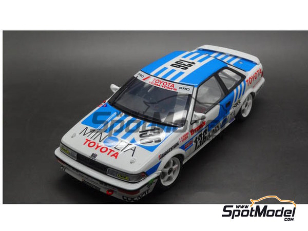 Image 5: Toyota Corolla Levin AE92 Group A Minolta -  1988 | Model car kit in 1/24 scale manufactured by Beemax Model Kits (ref. B24010, also Aoshima 098240)