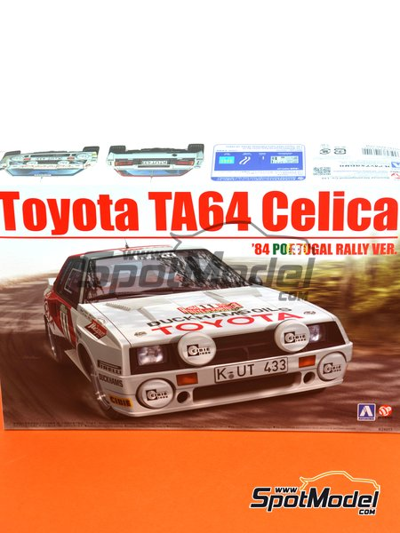Toyota TA64 Celica Duckhams Oils - Portugal Rally 1984 | Model car kit in 1/24 scale manufactured by Beemax Model Kits (ref. B24011) image