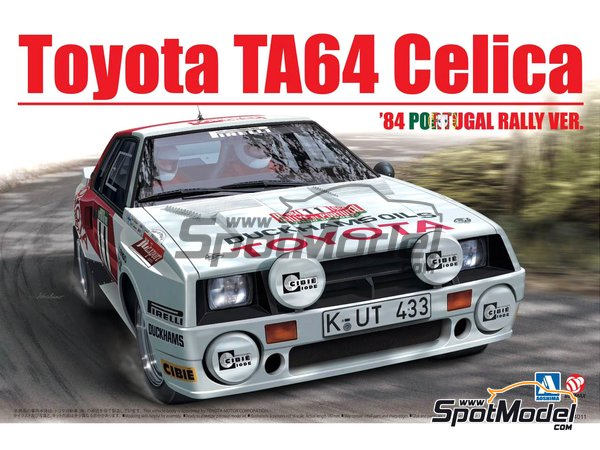 Image 1: Toyota TA64 Celica Duckhams Oils - Portugal Rally 1984 | Model car kit in 1/24 scale manufactured by Beemax Model Kits (ref. B24011)