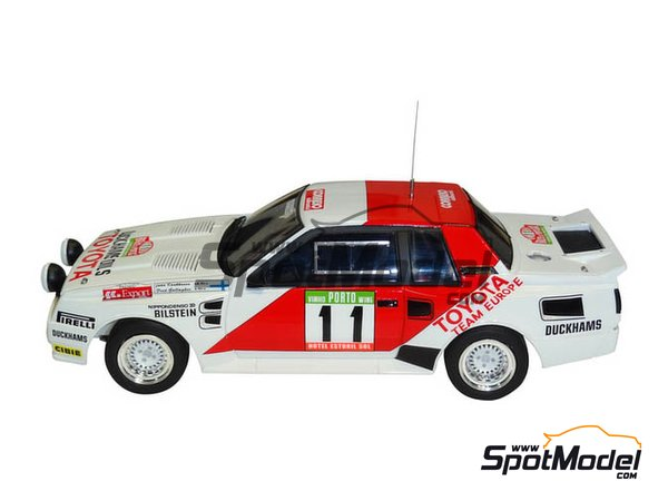 Image 3: Toyota TA64 Celica Duckhams Oils - Portugal Rally 1984 | Model car kit in 1/24 scale manufactured by Beemax Model Kits (ref. B24011)