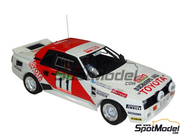 Image 4: Toyota TA64 Celica Duckhams Oils - Portugal Rally 1984 | Model car kit in 1/24 scale manufactured by Beemax Model Kits (ref. B24011)