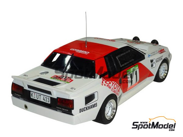 Image 5: Toyota TA64 Celica Duckhams Oils - Portugal Rally 1984 | Model car kit in 1/24 scale manufactured by Beemax Model Kits (ref. B24011)