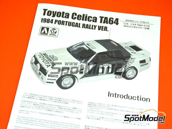 Image 19: Toyota TA64 Celica Duckhams Oils - Portugal Rally 1984 | Model car kit in 1/24 scale manufactured by Beemax Model Kits (ref. B24011)
