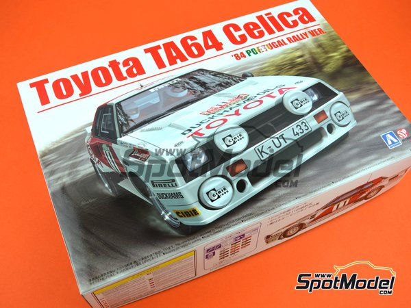 Image 22: Toyota TA64 Celica Duckhams Oils - Portugal Rally 1984 | Model car kit in 1/24 scale manufactured by Beemax Model Kits (ref. B24011)