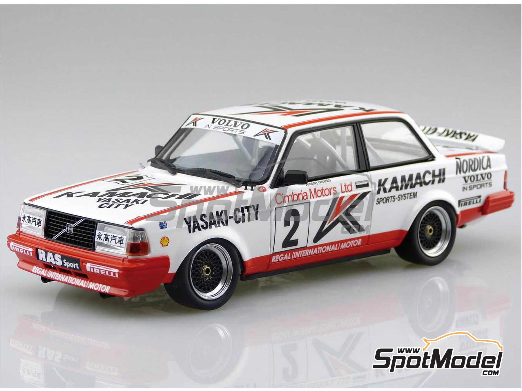 Image 2: Volvo 240 Turbo Group A Kamachi - Volvo Dealer Team Europe - Inter TEC championship Fuji Speedway, Guia Race of Macau 1985 and 1986 | Model car kit in 1/24 scale manufactured by Beemax Model Kits (ref. B24012)
