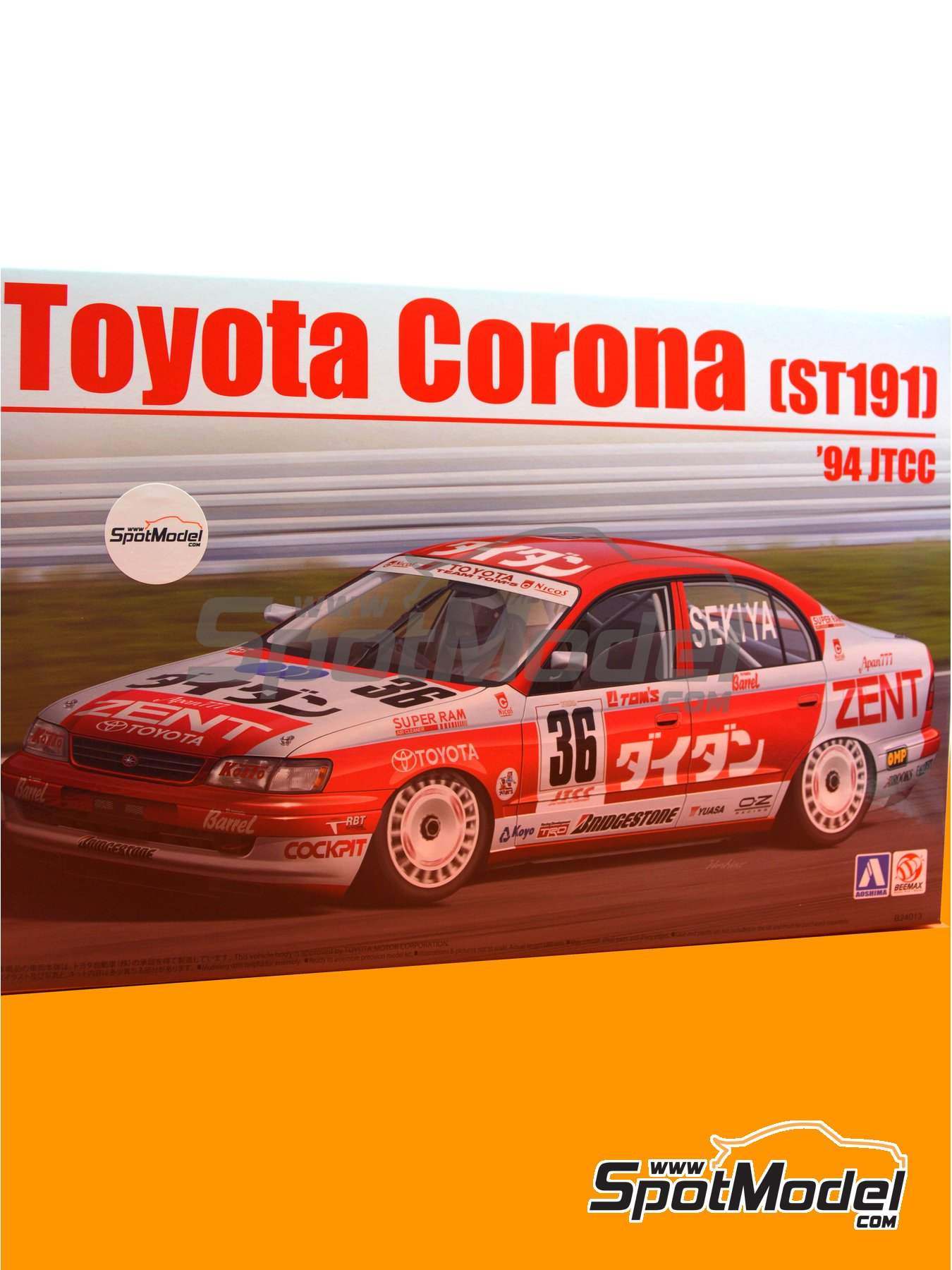 Toyota Corona ST191 Zent - Japan Touring Car Championship (JTCC) 1994 | Model car kit in 1/24 scale manufactured by Beemax Model Kits (ref.B24013) image
