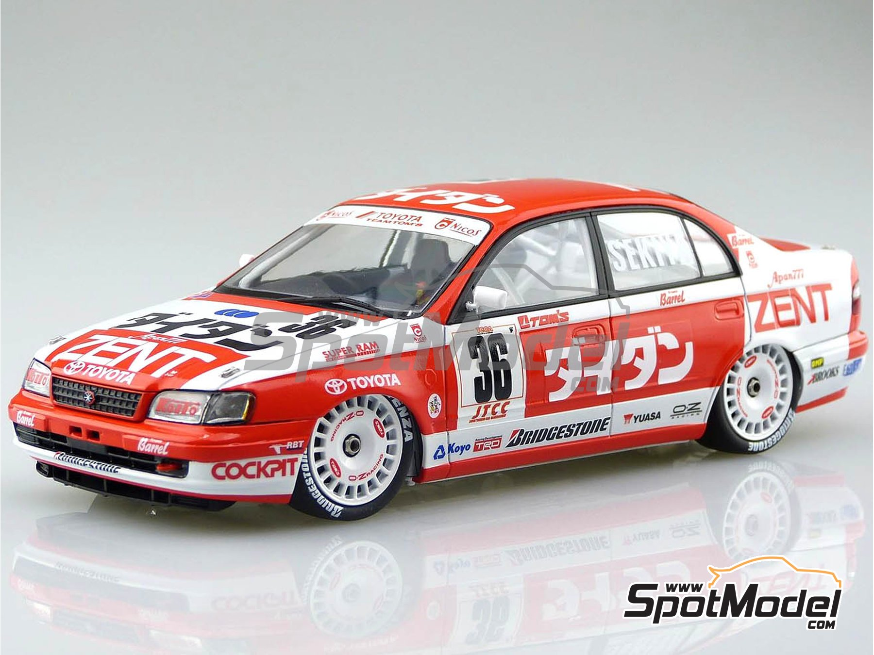 Image 1: Toyota Corona ST191 Zent - Japan Touring Car Championship (JTCC) 1994 | Model car kit in 1/24 scale manufactured by Beemax Model Kits (ref.B24013)