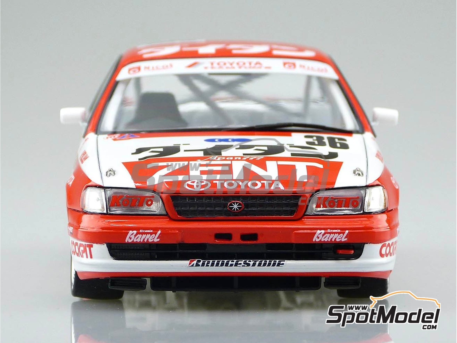 Image 3: Toyota Corona ST191 Zent - Japan Touring Car Championship (JTCC) 1994 | Model car kit in 1/24 scale manufactured by Beemax Model Kits (ref.B24013)