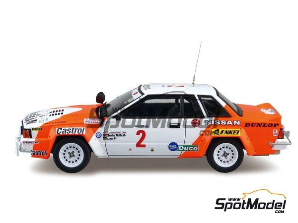 Image 2: Nissan 240RS BS110 Group B - Safari Rally 1984 | Model car kit in 1/24 scale manufactured by Beemax Model Kits (ref. B24014)