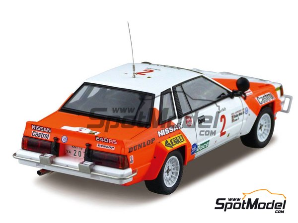 Image 3: Nissan 240RS BS110 Group B - Safari Rally 1984 | Model car kit in 1/24 scale manufactured by Beemax Model Kits (ref. B24014)