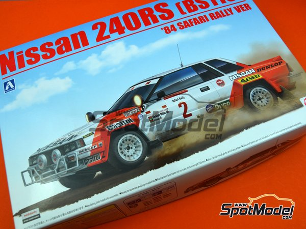 Image 21: Nissan 240RS BS110 Group B - Safari Rally 1984 | Model car kit in 1/24 scale manufactured by Beemax Model Kits (ref. B24014)