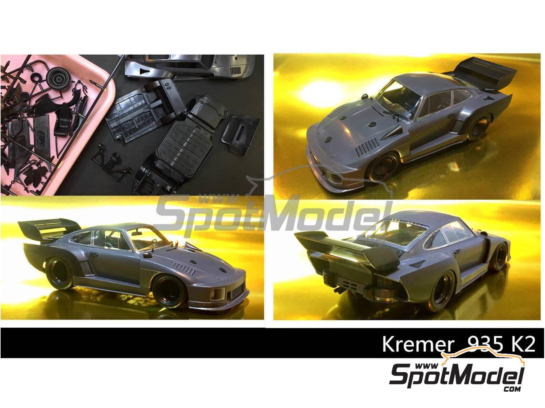 Image 1: Porsche 935 K2 Kremer Vaillant - 1000 kilómetros de Nürburgring 1970 | Maqueta de coche en escala1/24 fabricado por Beemax Model Kits (ref.B24015)