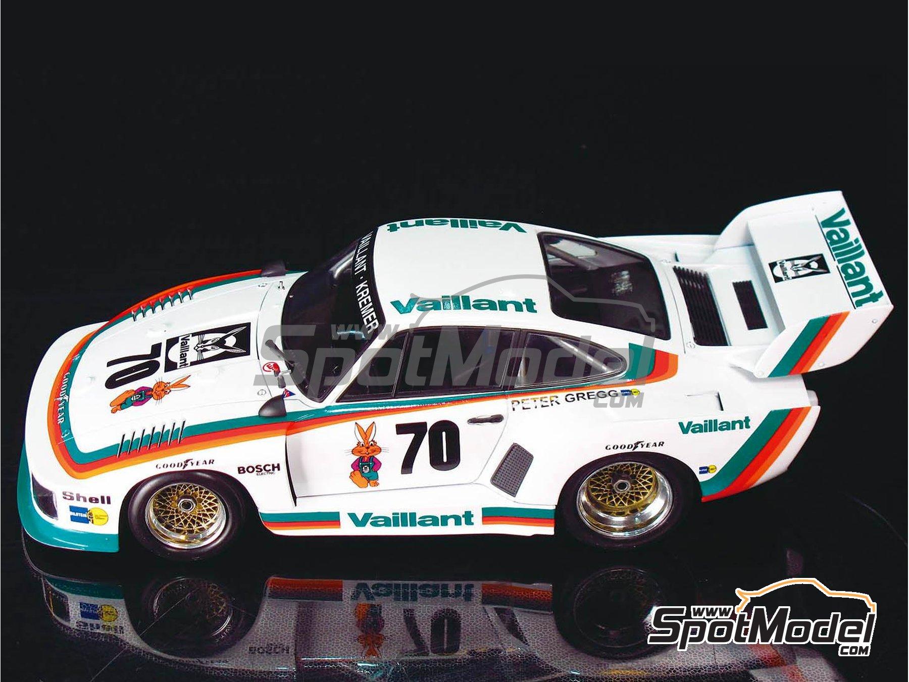 Image 6: Porsche 935 K2 Kremer Vaillant - 1000 kilómetros de Nürburgring 1970 | Maqueta de coche en escala1/24 fabricado por Beemax Model Kits (ref.B24015)