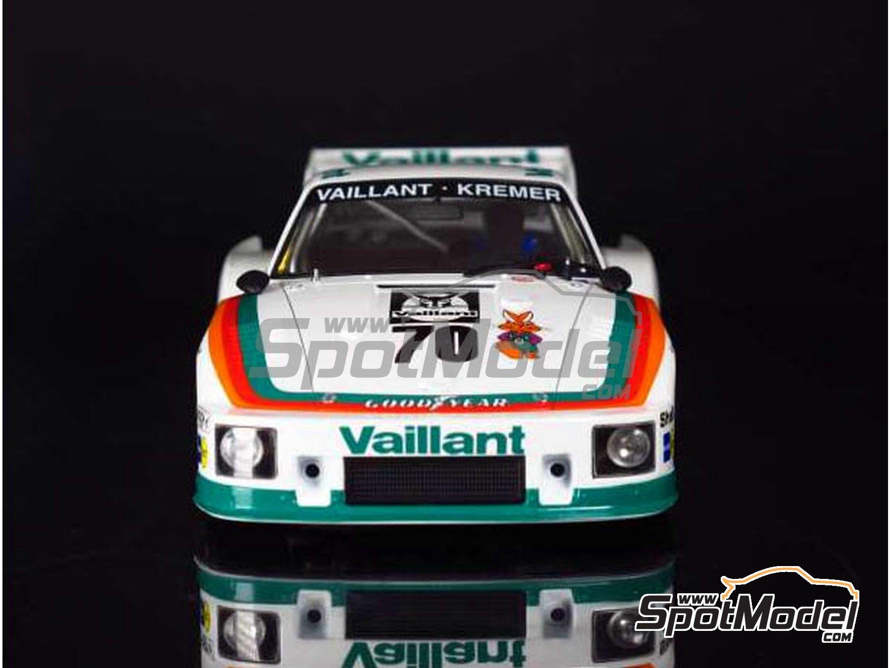 Image 10: Porsche 935 K2 Kremer Vaillant - 1000 kilómetros de Nürburgring 1970 | Maqueta de coche en escala1/24 fabricado por Beemax Model Kits (ref.B24015)