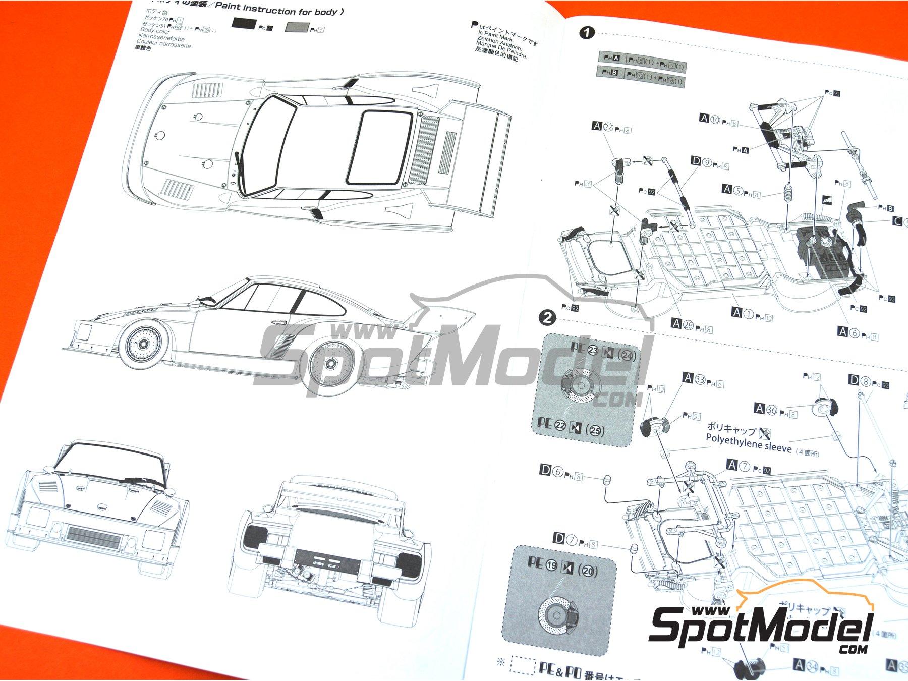 Image 26: Porsche 935 K2 Kremer Vaillant - Campeonato Alemán de Automovilismo - Deutsche Rennsport Meisterschaft DRM 1977 | Maqueta de coche en escala1/24 fabricado por Beemax Model Kits (ref.B24015, tambien 105108, aos10510 y 4905083105108)