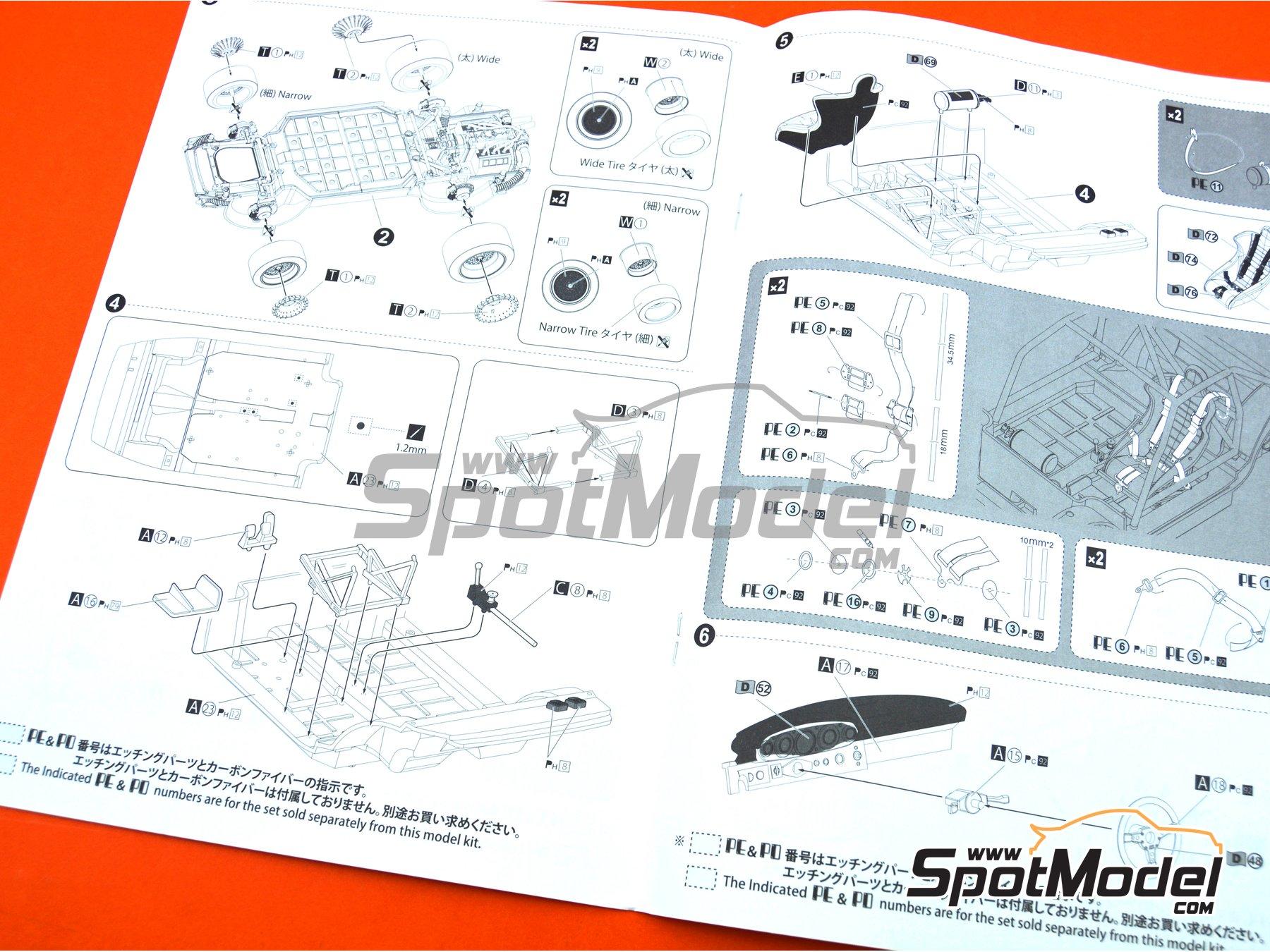 Image 27: Porsche 935 K2 Kremer Vaillant - Campeonato Alemán de Automovilismo - Deutsche Rennsport Meisterschaft DRM 1977 | Maqueta de coche en escala1/24 fabricado por Beemax Model Kits (ref.B24015, tambien 105108, aos10510 y 4905083105108)