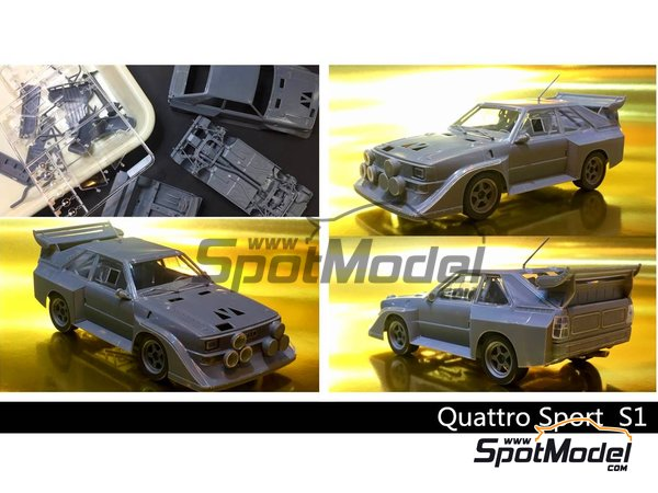 Image 1: Audi Quattro Sport S1 HB Audi Team - Montecarlo Rally | Model car kit in 1/24 scale manufactured by Beemax Model Kits (ref. B24017)