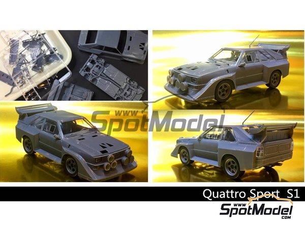 Image 1: Audi Quattro Sport S1 HB Audi Team - Rally de Montecarlo | Maqueta de coche en escala1/24 fabricado por Beemax Model Kits (ref.B24017)