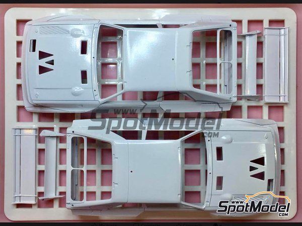 Image 2: Audi Quattro Sport S1 HB Audi Team - Rally de Montecarlo | Maqueta de coche en escala1/24 fabricado por Beemax Model Kits (ref.B24017)