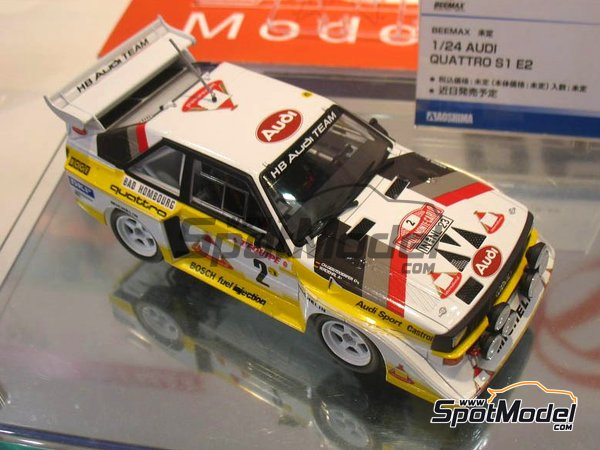 Image 4: Audi Quattro Sport S1 HB Audi Team - Montecarlo Rally | Model car kit in 1/24 scale manufactured by Beemax Model Kits (ref. B24017)