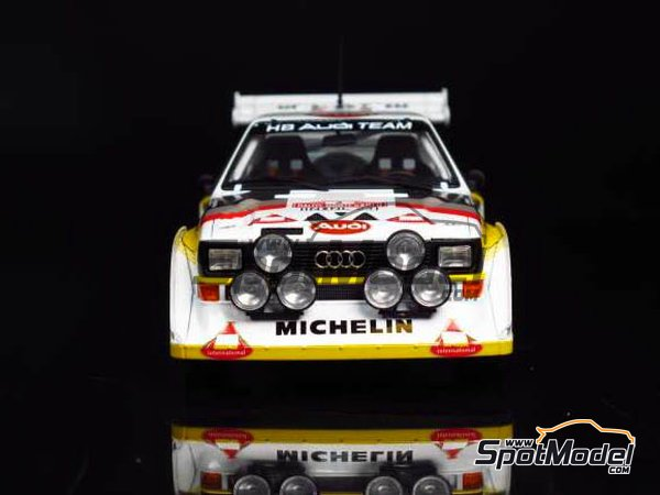 Image 6: Audi Quattro Sport S1 HB Audi Team - Montecarlo Rally 1985 | Model car kit in 1/24 scale manufactured by Beemax Model Kits (ref.B24017, also Aoshima 10398)