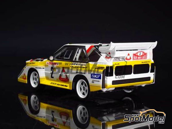 Image 7: Audi Quattro Sport S1 HB Audi Team - Montecarlo Rally 1985 | Model car kit in 1/24 scale manufactured by Beemax Model Kits (ref.B24017, also Aoshima 10398)