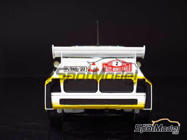 Image 8: Audi Quattro Sport S1 HB Audi Team - Montecarlo Rally 1985 | Model car kit in 1/24 scale manufactured by Beemax Model Kits (ref.B24017, also Aoshima 10398)