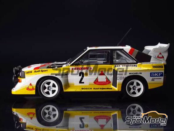 Image 10: Audi Quattro Sport S1 HB Audi Team - Montecarlo Rally 1985 | Model car kit in 1/24 scale manufactured by Beemax Model Kits (ref.B24017, also Aoshima 10398)