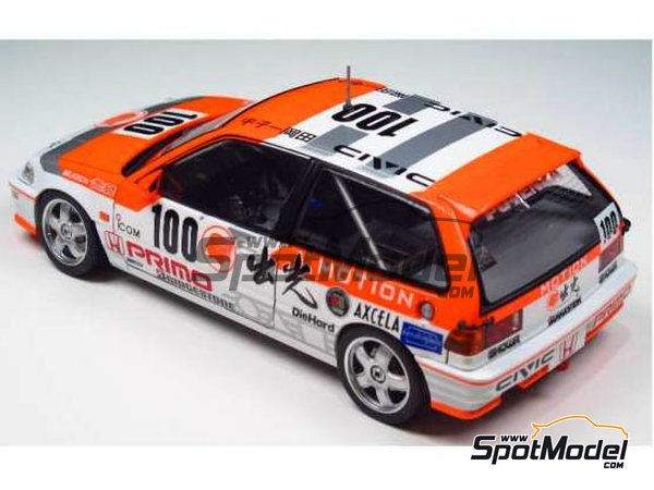 Image 2: Honda Civic EF9 Group A Primo -  1992 | Model car kit in 1/24 scale manufactured by Beemax Model Kits (ref.B24018)