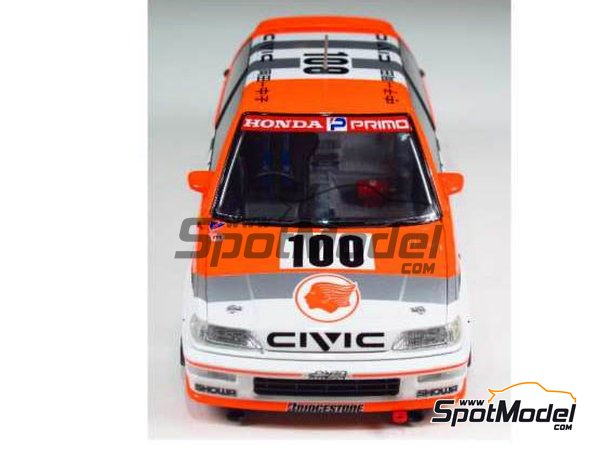 Image 3: Honda Civic EF9 Group A Primo -  1992 | Model car kit in 1/24 scale manufactured by Beemax Model Kits (ref.B24018)