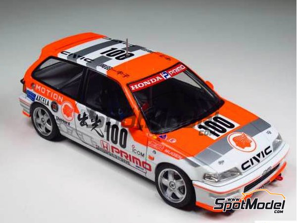 Image 4: Honda Civic EF9 Group A Primo -  1992 | Model car kit in 1/24 scale manufactured by Beemax Model Kits (ref.B24018)